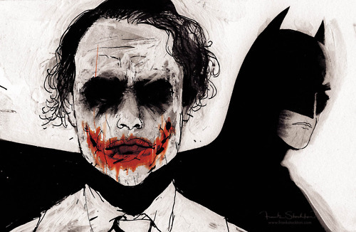 how to draw joker and batman