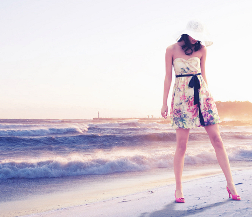 beach, beautiful, cool, dress, fashion