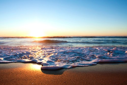 beach, beautiful, ocean, sand, sea, sky, sun, sunset, water