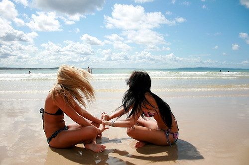 beach, best friend, girls, summer