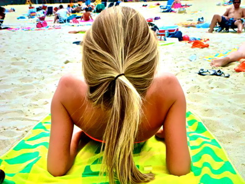 beach, blonde, girl, summer