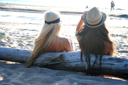 beach, blonde, girls , hair, sand