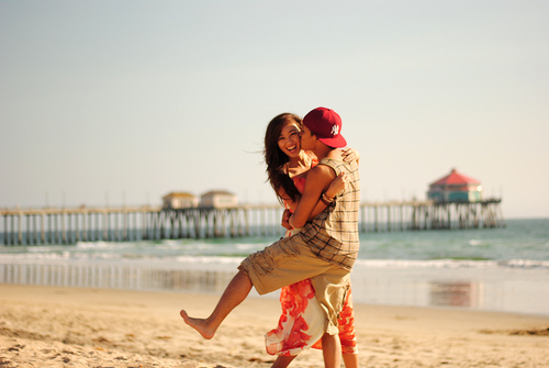 beach, boy, couple, cute, girl, guy, kiss, love, photography