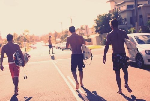beach, boys, brunette, burnette, road, sea, street, summer, sun, surf, surfboard, surfer, tan