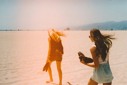 beach, cute, girls, lomo, photo, style, summer, vintage
