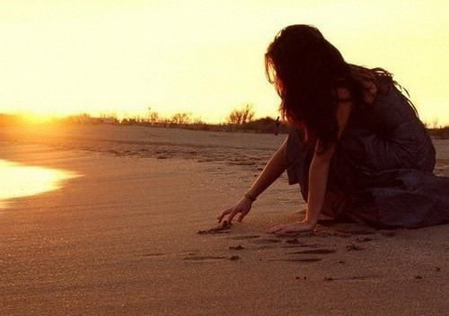 beach, girl, hair, sand, sunlight
