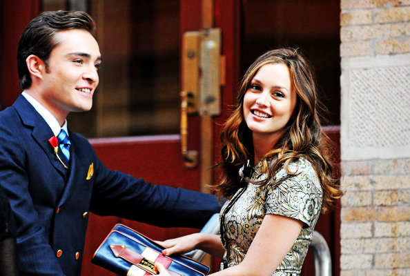 beauthiful, blair waldorf, chuck bass, ed westwick, fashion, gossip girl, laugh, leighton meester, love, smile