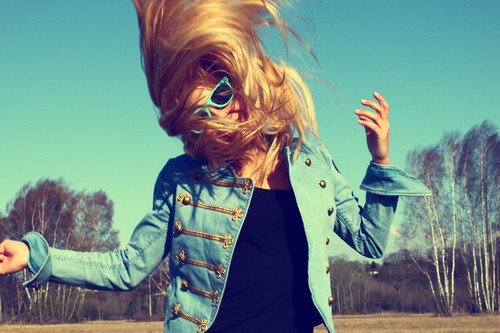 beautifil, blonde, crazy, fashion, girl, jaquet, nature, sky, summer, sun
