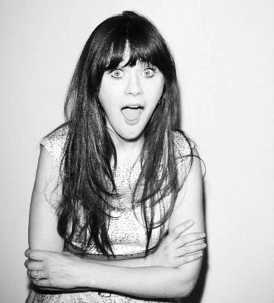 beautiful, beauty, black and white, eyes, face, fashion, girl, hair, hot, long hair, model, new girl, zooey, zooey deschanel