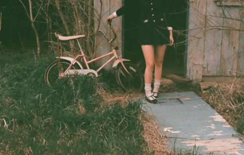 beautiful, bicycle, colors, cute, fashion, girl, hair, light, my tumblr, photography, pretty, sweet, xoxo ;*