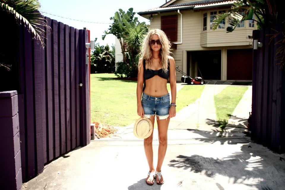 beautiful, bikini, billabong, blonde, gate
