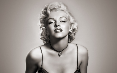 beautiful, black & white, marilyn monroe