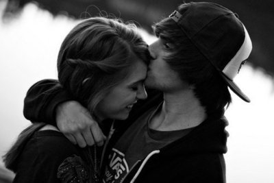 beautiful, black and white, boy, casal, couple, cute, fofo, girl, girl and boy, kiss, love