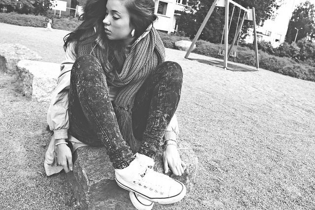 beautiful, black and white, converse, eyes, fashion