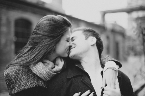 beautiful, black and white, cute, fashion, kiss