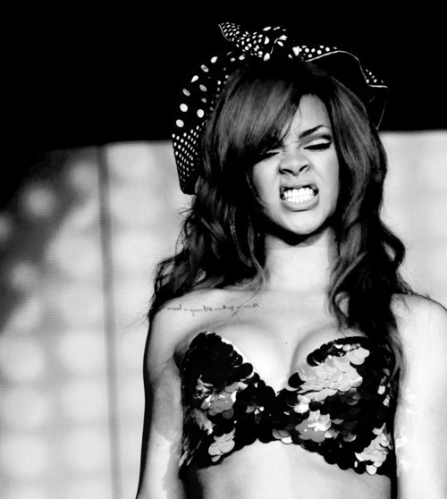 beautiful, black and white, girl, gorgeous, hair, rihanna, sexy