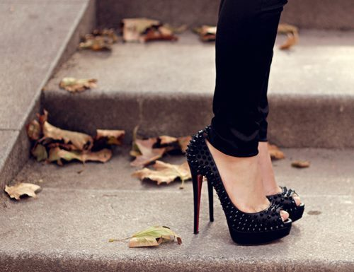 beautiful, black, fashion, girl, girly, heels, high heels, shoes, sparkles, spring