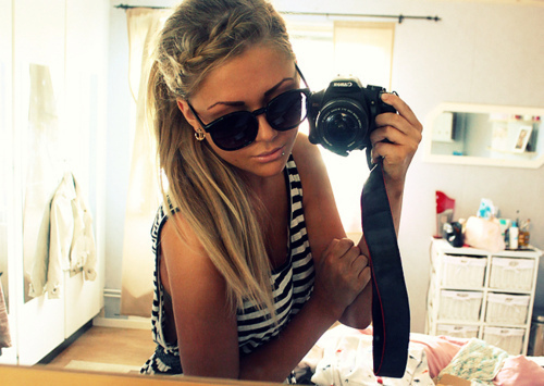 beautiful, blond, blonde, braid, camera