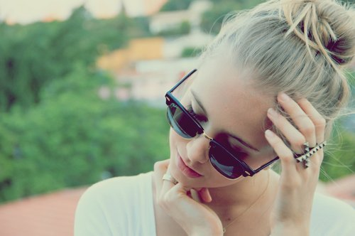 beautiful, blonde, girl, sunglasses