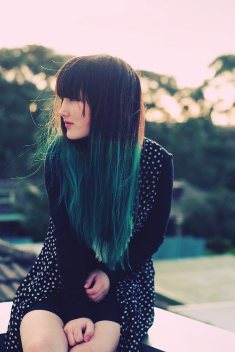 beautiful, blue, blue hair, cool, cute