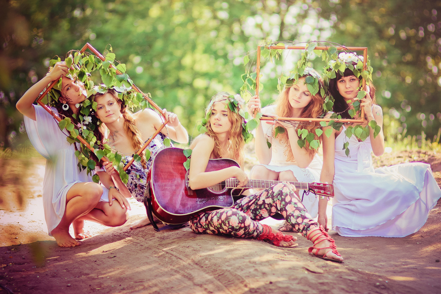 beautiful, boho chic, fairies, fashion, flowers