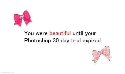 beautiful, bows, funny, photoshop, quote