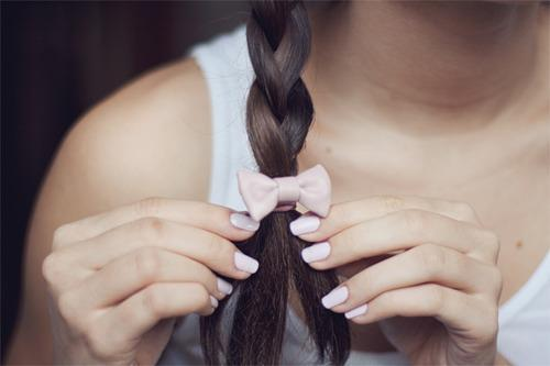 beautiful, braid, cute, girl, nails