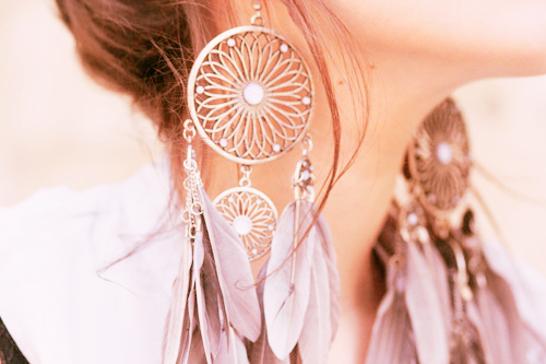 beautiful, brown, earrings, girl, jewellery, pastels