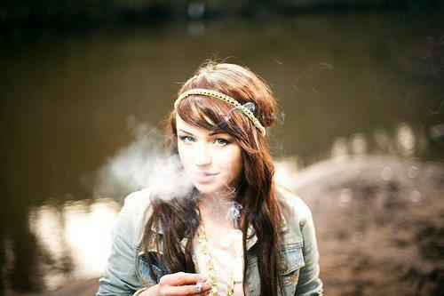 beautiful, brunette, cigarette, cute, girl
