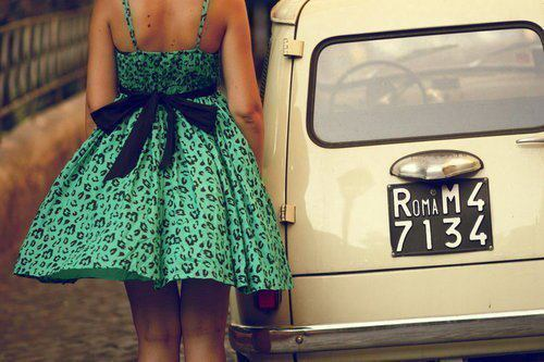 beautiful, car, dress, girl, roma