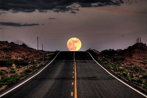 beautiful, cloud, ilussion, moon, photography, pic, road