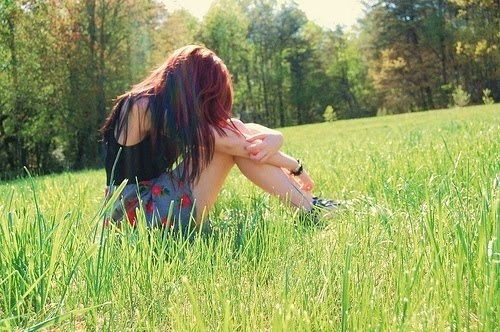 beautiful, cool, fashion, girl, hair, lonely, nature, photography, pretty, quiet, sun