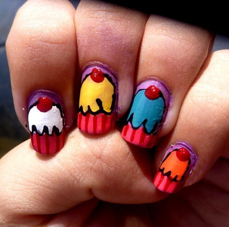 beautiful, cupcake, nail art, nails, photography, pretty