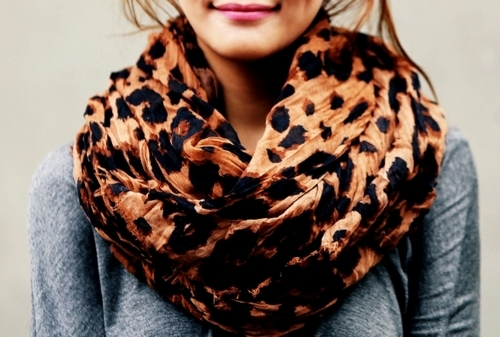 beautiful, cute, fashion, girl, leopard, outfit, pretty, scarf, shawl, style