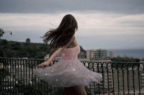 beautiful, dress, girl, magic, view