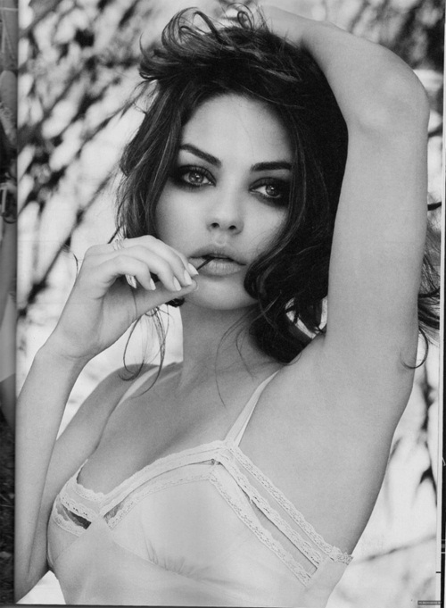 beautiful, eyes, girl, hair, mila kunis