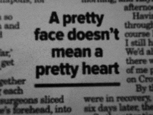 beautiful, face, heart, life, newspaper