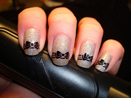 beautiful, fashion, glitter, nail, nails