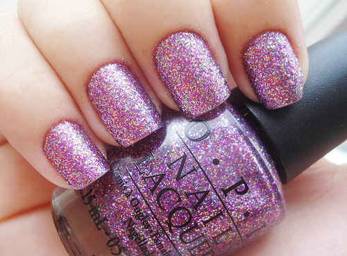 beautiful, girl, glitter, nail polish, nails