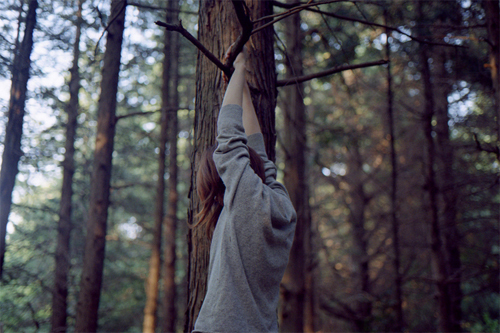 beautiful, girl, tree, vintage