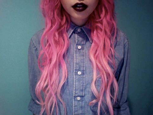 beautiful, hair, pink, please