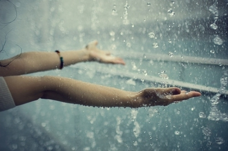 beautiful, hand, photograph, picture, rain