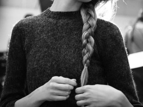 beauty, black and white, blonde, braid, braided hair, hair, hipster, personal style, style, sweater