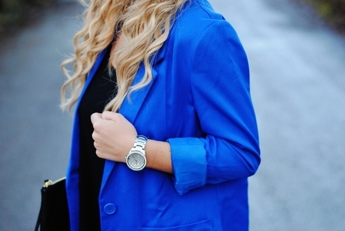 beauty, blazer, blonde, blue, clothes