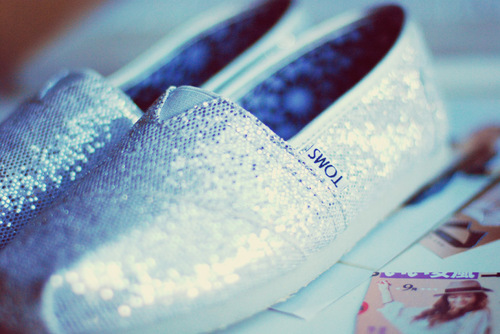 beauty, fashion, glitter, grey, shoes, silver, sparkle, toms