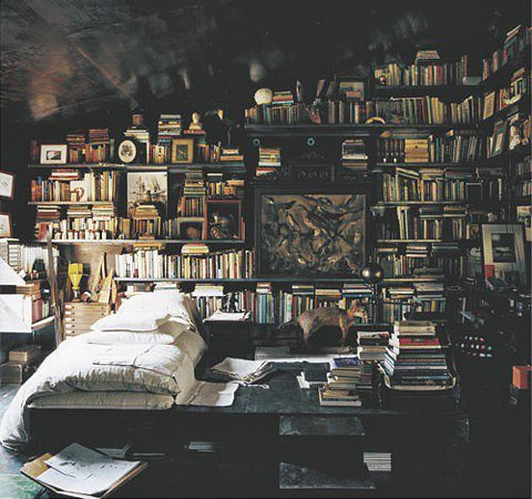 bedroom, book, books, furniture