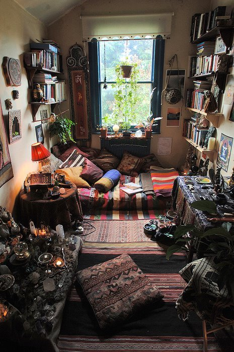 bedroom, cool, hippie, wow