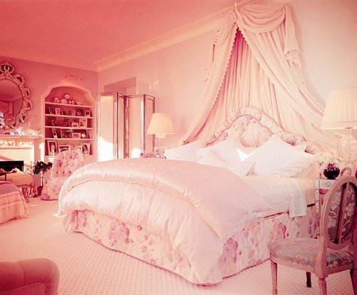 bedroom, cute, decor, home, pink