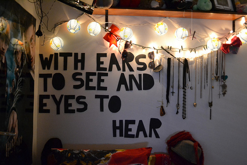 bedroom, ears, eyes, harry potter, hear