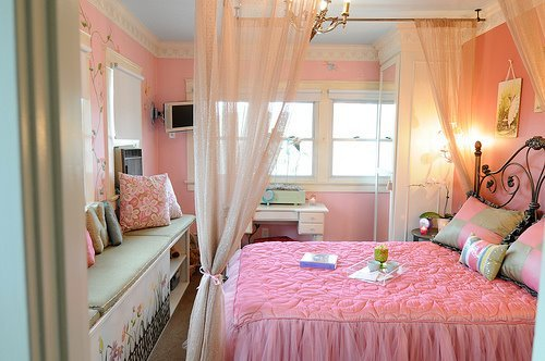 Bedroom Fashion Girly Modern Pink Pinky Room Rose Style Teen